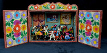 Peruvian Retablo Doctor Office