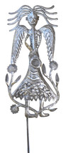 garden stake angel, path marker, Haitian Art