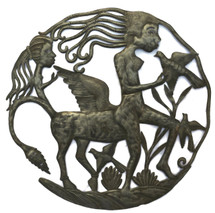 Female Centaur, Haiti Metal Art half horse half woman