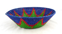 "Toluca Basket Round Blue and Green 11.25"" x 11.25"" x 4"""