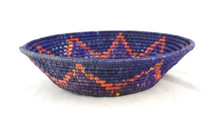 "Toluca Basket Round Blue and Yellow 11"" x 11"" x 4"""
