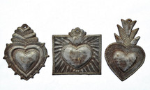 milagro hearts, set of 3, handmade in Haiti