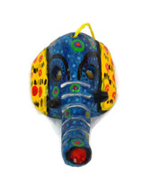 "Ornamental Hancrafted Elephant Mask 3"" x 4.5"""