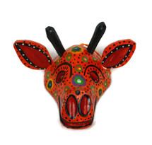 """Ornamental Hancrafted Giraffe Mask 3"""" x 4"""""""