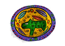 Purple Bowl Hand Painted from Guatemala 8""