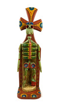 "Hand Carved Skeleton, Day of the Dead, Halloween Decoration   5.5"" x 19.75"""