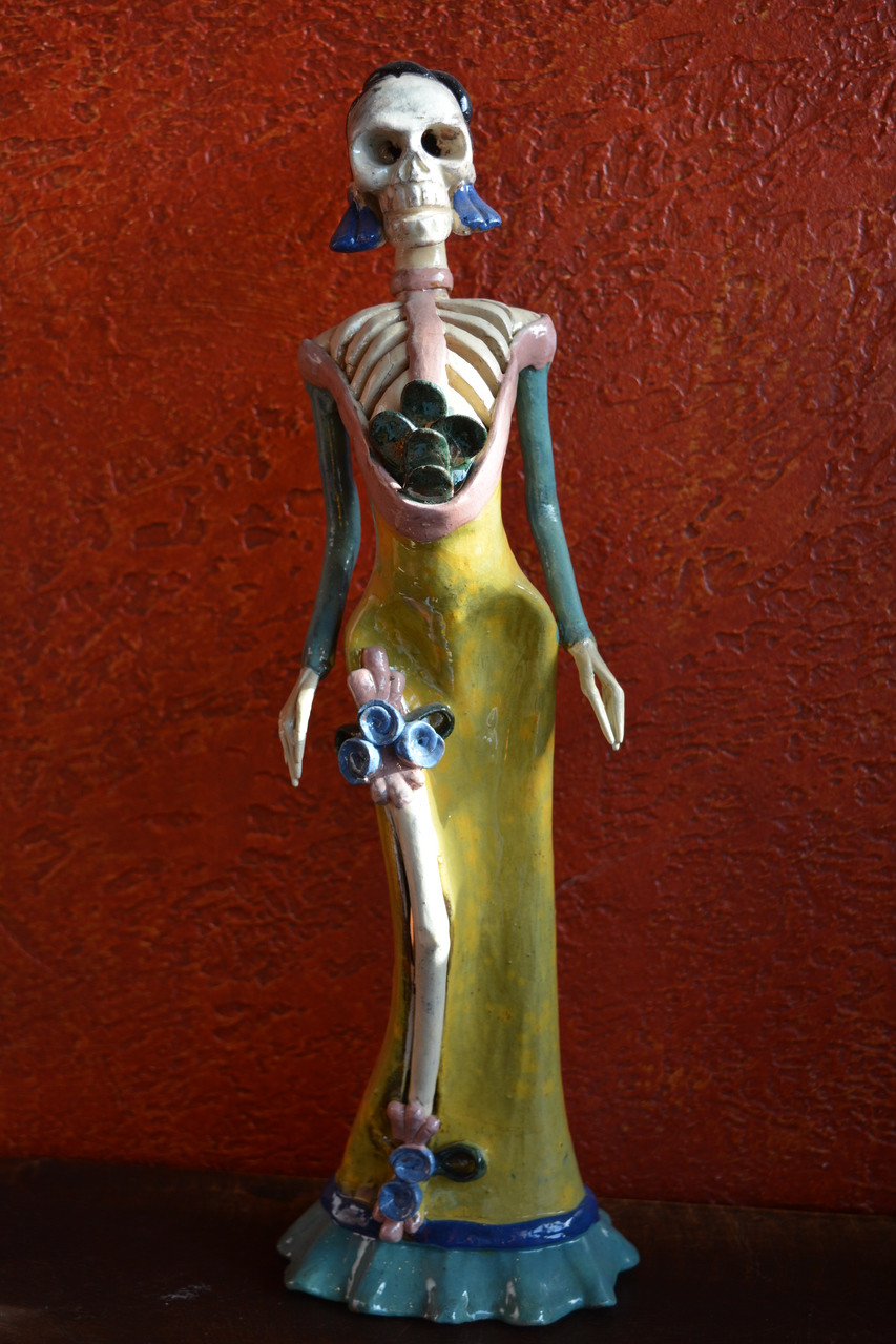Catrina day of the dead figure catrina katrina day of the dead catrina day of the dead altar ceramic sculpture 4 dailygadgetfo Choice Image