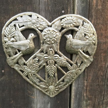 organic metal heart from haiti