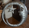 Moon holding star, Fair Trade Metal Wall Art, Indoor and outdoor wall Sculpture