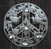 Haiti Metal Art , Peace Sign, Birds and Flowers Fair Trade