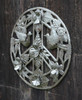 Indoor and outdoor Metal Art from Haiti, Peace Sign