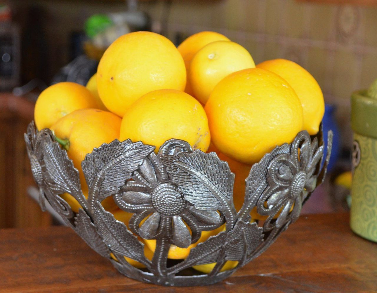 Sunflower Bowl, Handmade in Haiti, Home Living Fruit Bowl, Fair ...