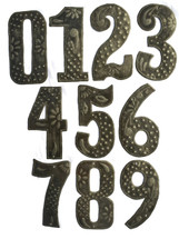 Haitian Metal House Numbers