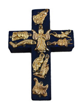 blue cross with milagro charms