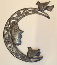 crescent moon with birds metal wall art haiti