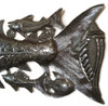 "Fish, Metal Wall Decor, Indoor,Outdoor, Nautical Sea Life Art 33.5"" X 10"""