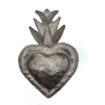 "Sacred Metal Heart, Handmade in Haiti, Inspirational Wall Decor 7"" x 9"""