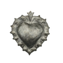 sacred heart, metal wall art, haiti fair trade