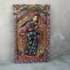 Virgin Mary Hand Carved Solid Wood Decorative Panel, Wall Art