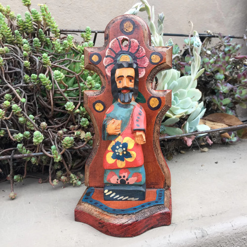 """Artisan Crafted Wooden Saints 3.5"""" x 3"""" x 7.5"""""""