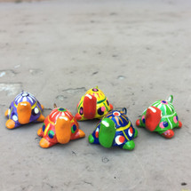 hand painted whimsical Beads from Guatemala