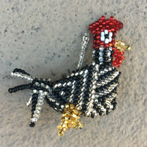 hand beaded Guatemala Rooster Gallo