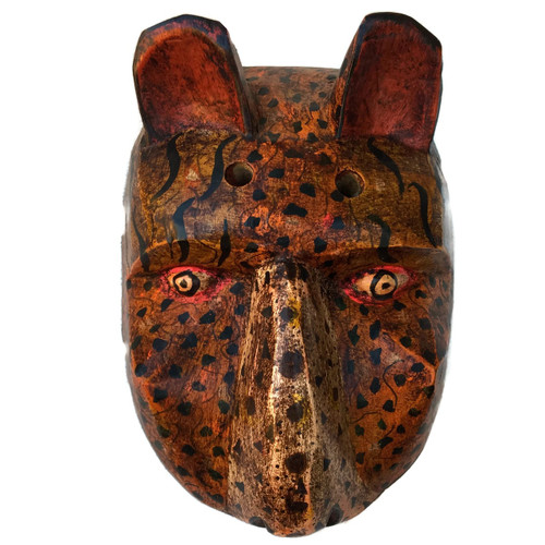hand carved Jaguar mask Guatemala