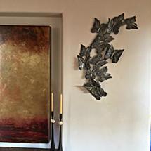 Garden Butterflies, Haitian Metal Art, Recycled Oil Drums