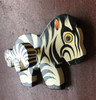 Hand painted wooden  Zebra wall hook Haiti