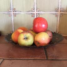 "Haiti Bread Fruit Tree, Metal Tray or Bowl  11"" x 11"" x 1"""