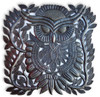 """Metal Owl Wall Decor, Quality and Detail Craftsmanship from Haiti 17""""x 17.5"""""""