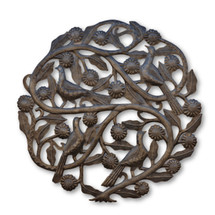 Haiti Tree of Life, Flowers & Birds, Quality Metal, Steel Drums, Free Trade, One-of-a-Kind