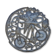 Cycling Star, One-of-a-Kind, Voodoo Art, Universe Art, Fair Trade, Help Haiti, Fight Poverty, Eco-Friendly