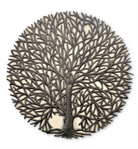 Tranquility Handcrafted Metal Tree, Quality Haitian Craftsmanship 23 inch round