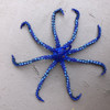 Octopus Royal Blue, Ornament, Hand Beaded made in Guatemala
