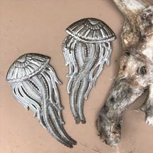 "it's cactus - metal art haiti Jellyfish Pair, Ocean Sea life theme home decor, Beautiful handcrafted in Haiti 4.5"" x 9.75"""