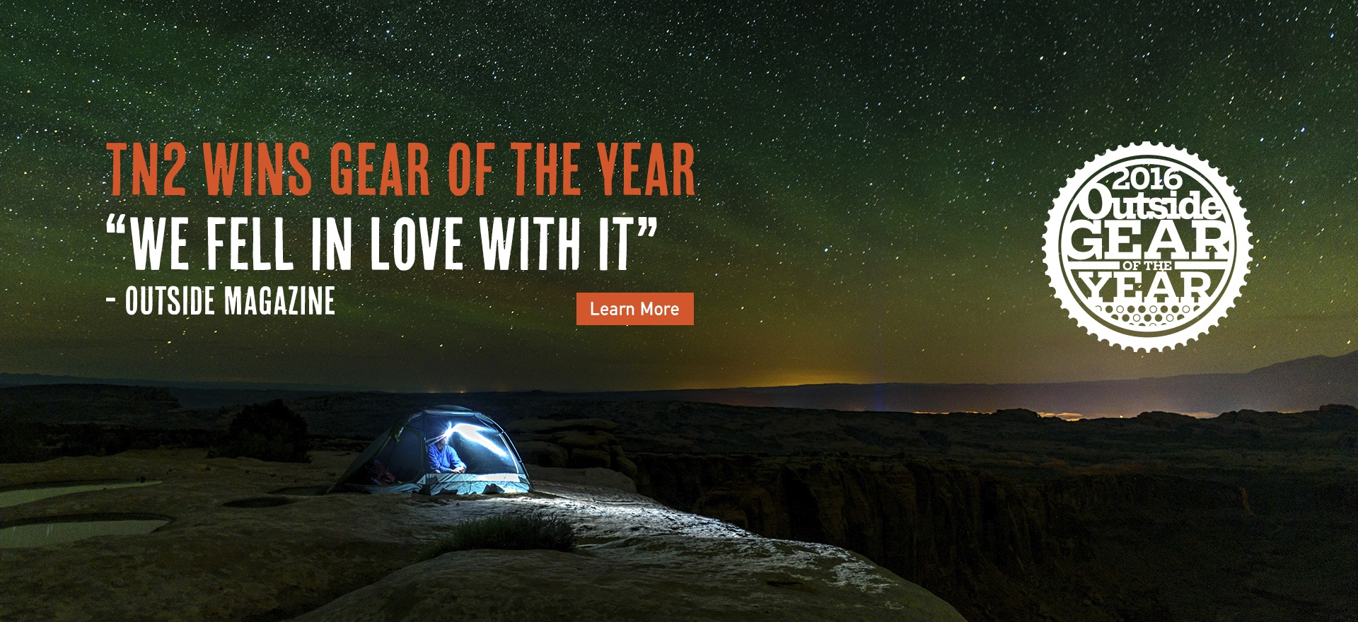 TN2 Tent Wins Outside Magazine Gear of the Year