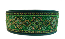 "1.5"" Celtic Green Croix Swarovski Collar"