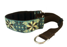 "1.5"" Smoke and Chocolate Pinwheel Private Prong Collar"
