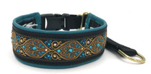 "1.5"" Teal Venetian Swarovski Crystal Private Prong Collar"