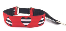 """1.5"""" Hearts and Stripes Private Prong Collar"""