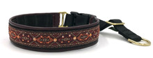 "1"" Ankara Maroon Swarovski Crystal Private Prong Collar"