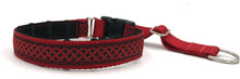"1"" Red Celtic Knots Private Prong Collar"