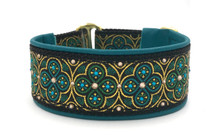 "1.5"" Teal and Green Toulon Swarovski Collar"