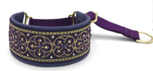 "1.5"" Purple Quatrefoil Swarovski Crystal Private Prong Collar"