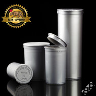 Silver Pop Top Containers