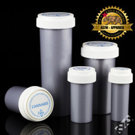 Silver Reversible Cap Containers
