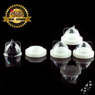 DoM Concentrate Container - Clear/White