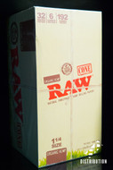 Raw Rolling Paper 1 1/4 Size Cones - 32 Individual Packs / Box