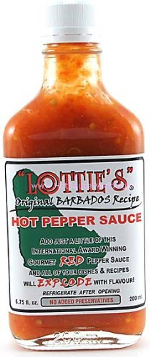 Lottie's Original Barbados Red Hot Pepper Sauce available at PepperExplosion.com